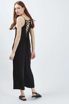 Tie-Back Slouch Jumpsuit - Going Out - Clothing - Topshop Europe