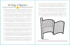 Free printable!  Pledge of Allegiance
