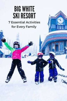 Heading out on a Big White Family Ski Vacation? Here are the top 7 things essential to making the most out of your trip to Big White Ski Resort! Canada Travel, Travel Usa, Columbia Travel, Canada Trip, Travel With Kids, Family Travel, Family Ski, Big Family, Big White Ski Resort
