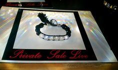 Private Sale Live black and clear crystal evening Bracelet