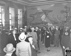 OldSF Inside Aquatic Park Building on August 10, 1938: my pops birthday!