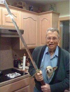 The Sword, Cigar, and Chihuahua Grandpa