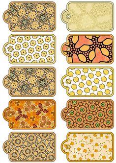 Imprimolandia etiquetas Printable Scrapbook Paper, Printable Paper, Journal Stickers, Planner Stickers, Printable Labels, Printables, Label Shapes, Halloween Signs, Vintage Tags