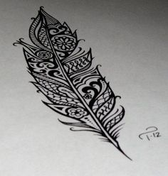 love love this feather! would be such a sick tattoo