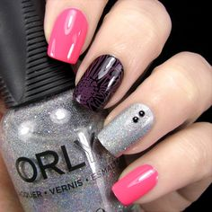 Nail Art By Belegwen: #Lumene Poetic Days, A England Camelot and Orly Mirrorball.