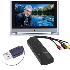 DVD DVR USB 2.0 Capture Video Adapter Converter Cable With Stereo Audio RCA S-Video Input for PC Laptop