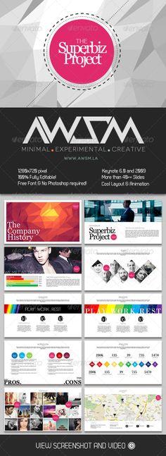 Biz Project Keynote Template - Business Keynote Templates