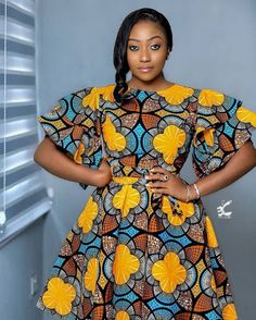 Latest Ankara Designs for Ladies: Most Trending styles Short African Dresses, Latest African Fashion Dresses, African Print Dresses, African Print Fashion, African Prints, African Clothes, Ankara Fashion, Africa Fashion, Ankara Dress Styles