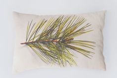 Photo fabric - different plants would be a good set of accent pillows
