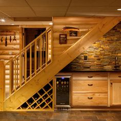 kitchen with staircase | Practical Minibar under Stairs How to Set Up Mini Bar Under Stairs?