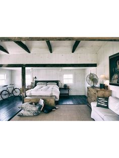 Slaapkamer/woonruimte in één