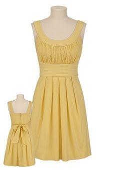 Contrast Stitch Scoop Neck Dress
