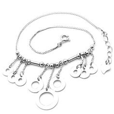 Open Circle Tassel Chain Anklet