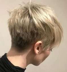 70 Overwhelming Ideas for Short Choppy Haircuts Very Short Choppy Cut For Girls Short Choppy Haircuts, Choppy Cut, Short Hair Cuts, Short Hair Styles, Choppy Bangs, Haircut Short, Chopped Haircut, Short Blonde Pixie, Long Pixie