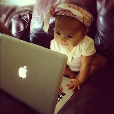 Adorable baby girl...probably already discovering Pinterest!