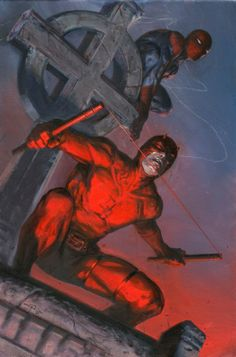 For sale - gabriele dell'otto - daredevil  spider man  Comic Art