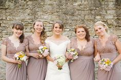 mocha bridesmaids dresses, image by http://www.daniellebenbow.co.uk/
