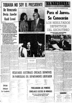 Elecciones en las que resultó electo Raúl Leoni como presidente de Venezuela. Publicado el 3 de diciembre de 1963.