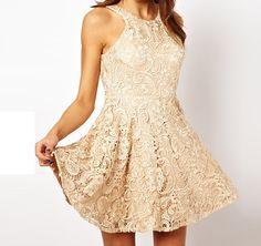 Sexy lace sleeveless halter dress AX32011ax