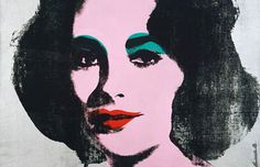 Andy Warhol, Silver Liz, 1963. Silkscreen ink, acrylic, and spray paint on canvas, 40 x 40 inches, (101.6 x 101.6 cm)© 2011 Andy Warhol Foundation for the Visual Arts/ ARS, NY/Gagosian Gallery. Photo: Robert McKeever. Private Collection, NY.