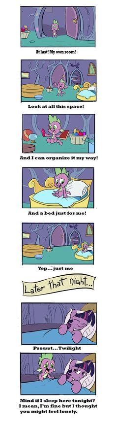 #884519 - alicorn, artist:nukilik, bed, comic, cute, female, mare, pony, safe, spike, spike's room, tanks for the memories, twilight sparkle, twilight sparkle (alicorn) - Derpibooru - My Little Pony: Friendship is Magic Imageboard