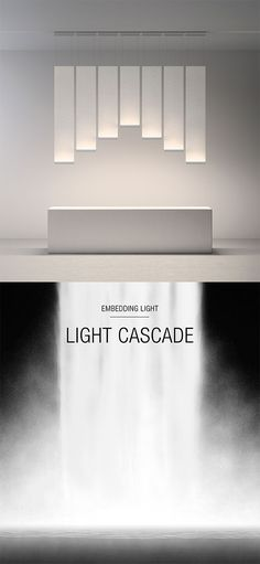Curtain by Vibia, Light cascade. Curtain transports the light through a delicate texture, allowing it to flow and descend to rest on the architecture. Find out more on http://www.vibia.com/en/embedding-light/?utm_source=social&utm_medium=pinterest&utm_campaign=embed_light_curt_eu&utm_content=pint_design_concepts&utm_term=