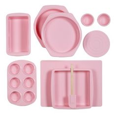 Silicone Solutions 10-pc. Bake and Serve Set - Pink