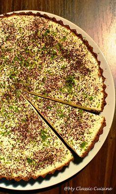 My Classic Cuisine: Tarta cu Crema de Limeta Cheesecakes, Quiche, Biscuit, Deserts, Food And Drink, Breakfast, Smoothie, Pies, Cream
