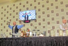 Jason Asher competing at the Iron Mixologist Competition/ WSWA