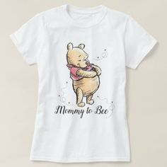Best gift idea of a Winnie the Pooh Baby Shower Mommy to Bee T-Shirt quotes Winnie The Pooh Themes, Winnie The Pooh Nursery, Disney Winnie The Pooh, Winnie The Pooh Shirt, Vintage Winnie The Pooh, Winnie The Pooh Costume, Mommy To Bee, Baby Shower Games, Baby Boy Shower