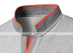 Polo T Shirts, Work Shirts, Sports Shirts, Polo Shirt Style, Sport Shirt Design, Polo Design, Mens Striped Sweater, Mens Golf Fashion, Kurta Pajama Men