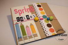 """Hobby di Carta - Il blog: MINI ALBUM: """"Spring colors"""" by Ilaria"""