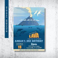 Lava Invitation. Lava Birthday Invitation. Inside Out Short Movie Invitation…