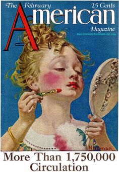Little Girl with Lipstick by Norman Rockwell (1922)