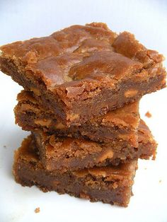 Butterbeer Blondies for Harry Potter