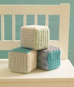 crocheted baby blocks