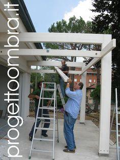 Pergola With Retractable Canopy Product Carport Patio, Pergola Ideas For Patio, Gazebo Pergola, Building A Pergola, Patio Roof, Pergola Plans, Pergola Kits, Backyard Patio, Backyard Landscaping