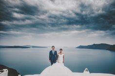 A gorgeous real wedding at @ikieshotel #Santorini by @giorgoselianos