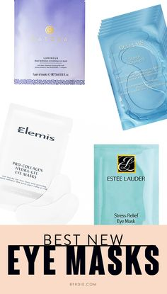 9 new eye masks to add to your skin routine. // #Skincare