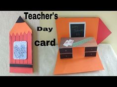 popup card ideas//popup card ideas for teacher//teachers day popup card - YouTub. Greeting Cards For Teachers, Teacher Thank You Cards, Teachers Day Gifts, Happy Teachers Day, Kids Cards, Teacher Gifts, Easy Paper Crafts, Diy Crafts For Gifts, Teachers Day Drawing