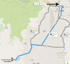 Grand Canyon (Hang Dong Canyon) Chiang Mai Map & Address (Chiang Mai, Thailand) --- The Borderless Project