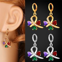 Cheap earring clip, Buy Quality earrings body directly from China earrings cake Suppliers:                        Buy the matching items,please click following pictures:           Multicolor Cubic Zr