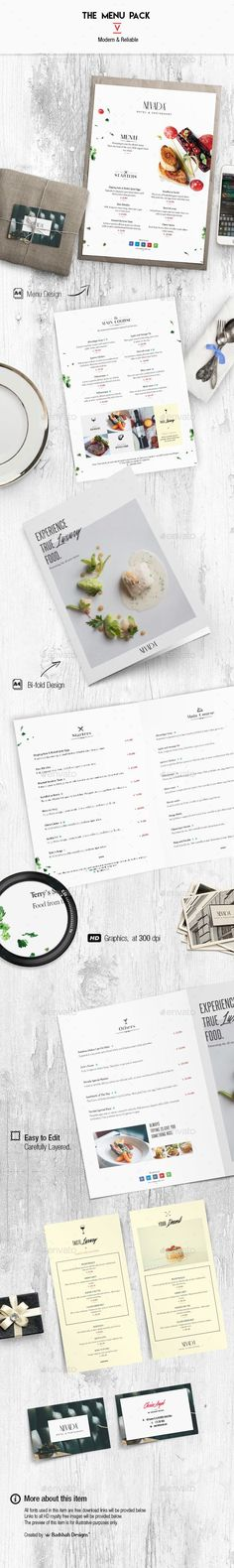 Menu Pack 5 - Food Menus Print Templates