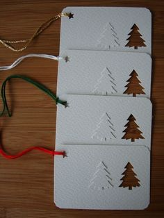 Items similar to Christmas gift tags on Etsy cute tag idea.using a small punch I would use different colors and mix up the trees though. Christmas Gift Wrapping, Handmade Christmas, All Things Christmas, Christmas Holidays, White Christmas, Christmas Projects, Christmas Crafts, Diy Christmas Tags, Christmas Paper