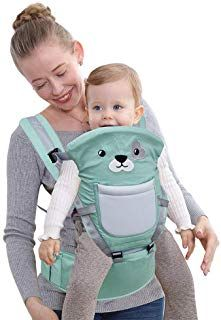 Kidsidol 4 in 1 Baby Carrier Hipseat Ergonomic Front Facing Infant Sling Backpack Detachable 4 Safe and Comfortable Positions Suitable for 0-3 Years Old Baby