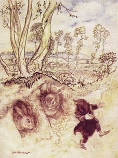 ✯ Wind in the Willows Mole and the Rabbits :: Arthur Rackham -1956- ✯
