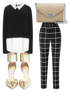 """""""Untitled #2282"""" by fiirework ❤ liked on Polyvore featuring Alice + Olivia, Jimmy Choo and Mulberry"""