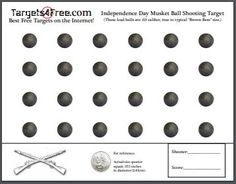 Brown Bess, Rifle Targets, Shooting Targets, Keep The Lights On, Musketeers, Fourth Of July, Hand Guns, Balls, Printable