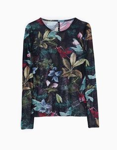 At Stradivarius you'll find 1 Floral print tulle top for woman for just 1290 Serbia . Visit now to discover this and more LONG SLEEVE.