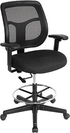 Drafting Chair Tall Office Chair Desk Chair Mesh Computer Chair Adjustable Height with Lumbar Support Flip Up Arms Swivel Rolling Executive Chair for Standing DeskDefault Title